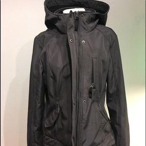 Sebby Womens Hooded Jacket Coat Charcoal Grey L